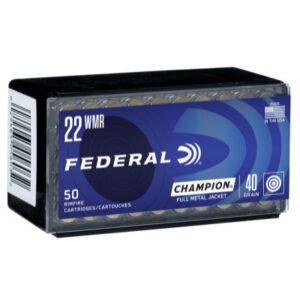 Federal 22 WMR 40 GR Champion FMJ (50)