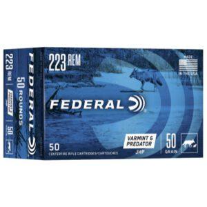 Federal 223 Rem 50 Gr JHP (50) Varmint & Predator