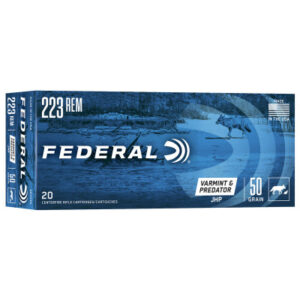 Federal 223 Rem 50 Gr JHP (20) Varmint & Predator